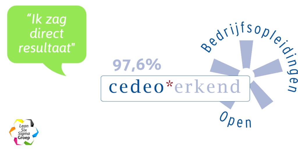 Cedeo-erkenning voor Lean Six Sigma Groep 2019/2020