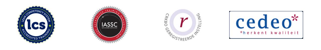 Lean Six Sigma Groep is door IASSC, ASQ, LCS en CEDEO geaccrediteerd.