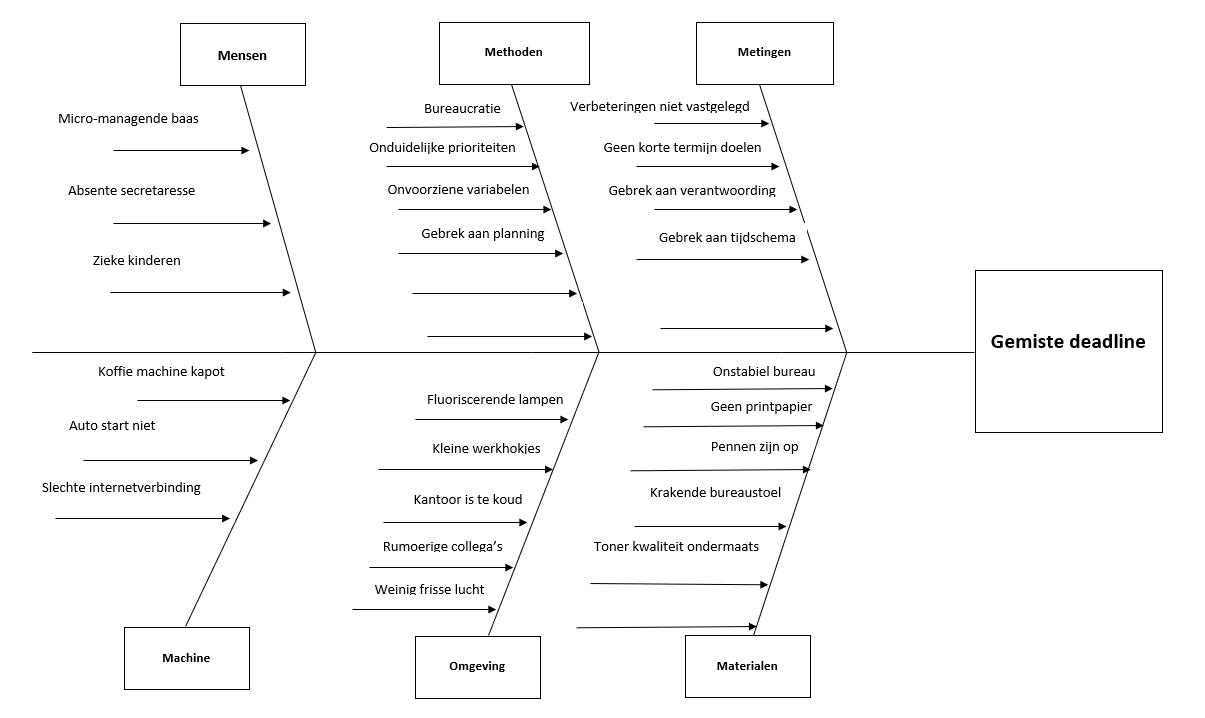 Hoe werkt een Ishikawa visgraat diagram?